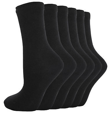Girls Boys Unisex Back to School Black Socks Very Comfortable Size 12-3