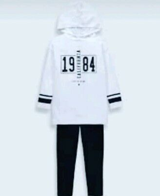 2pc Set Girls Monochrome California Outfit 4 Years Birthday Gift For Kids