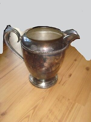 f b rogers silver co trademark 1883 silver on copper 7507 pitcher