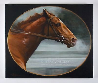 Canvas Giclee Print Man O War by Terry Waldron Signed