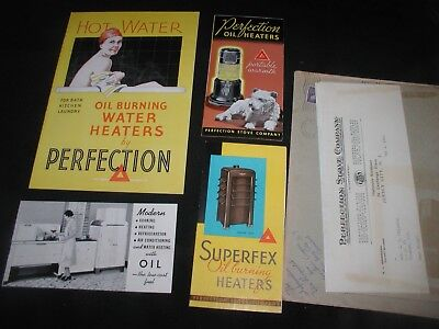 Lot of Old Vintage 1940 Brochures for Perfection Stove Company Jersey City NJ