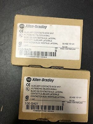 allen bradley auxiliary contact 100-SA01 LOT OF TWO