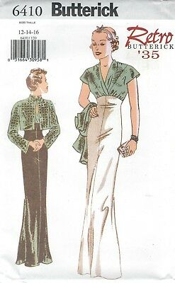 Butterick 6410 Misses' Jacket & Dress 12, 14, 16  Comp @ $12.50  Sewing Pattern