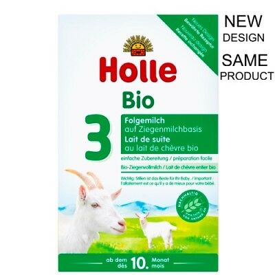 4 Pack Holle Organic Goat Milk Formula Stage 3 400g,10 month, FREE SHIPPING