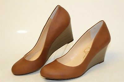 fb9d94590bb Jessica Simpson NEW Sampson Womens 37 7 M Leather Wedges Pumps Heels Shoes  kb