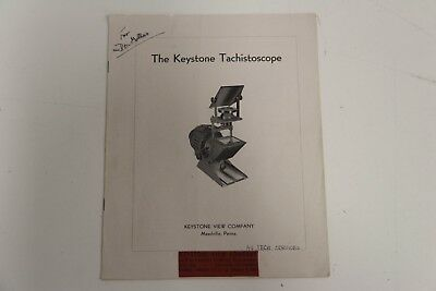 Keystone View Company Manual The Keystone Tachistoscope