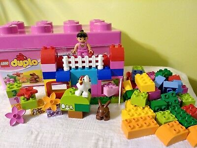 LEGO DUPLO 10571 ALL IN ONE PINK BOX OF FUN , pre owned great condition.