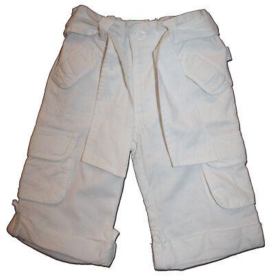 Essential PUMPKIN PATCH Size 1 White Cotton Cargo Pants MATCH EVERYTHING!