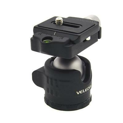 "20KG Load Tripod Ball Head Swivel 1/4"" Mount Quick Release Plate for DSLR Camera"