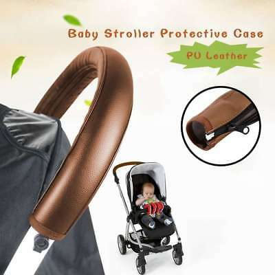 Baby Pram Accessories Stroller Armrest PU Leather Case Cover For Arm Covers