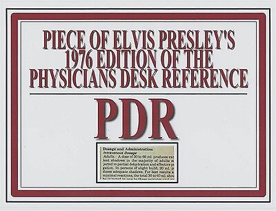 ELVIS PRESLEY's personal owned 1976 PDR book page piece relic swatch rare item