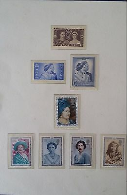 Queen Mother GB Mint Collection 1937-1990 with 1948 KG VI Silver Wedding