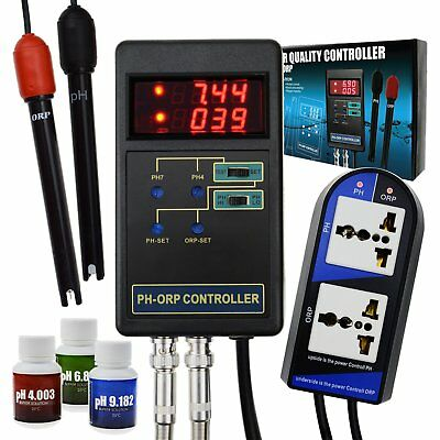 2in1 Digital pH / ORP Redox Controller Repleaceable Electrode Water Tank Tester