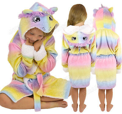 Girls Childrens Soft & Cosy Unicorn Dressing gown Twosie Pyjamas Ages 5-13 years