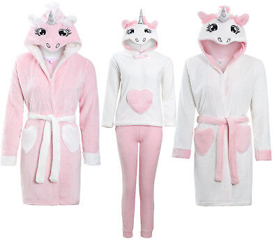 Girls Soft & Cosy Unicorn Dressing gown Twosie Pyjamas Ages 5-13 years