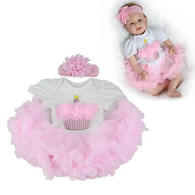 BABY PINK CLOTHES For REALISTIC REBORN GIRL DOLL 22INCH LIFELIKE NEWBORN FANCY
