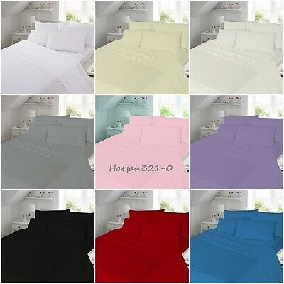 Flannelette Fitted Bed Sheet Soft 100% Brushed Cotton Pillowcase Sold Separately