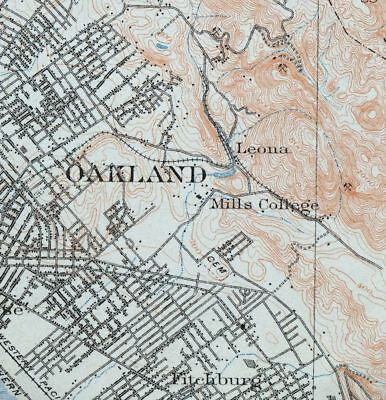 1915 Concord California Oakland Antique 15-minute USGS Topographic Topo Map