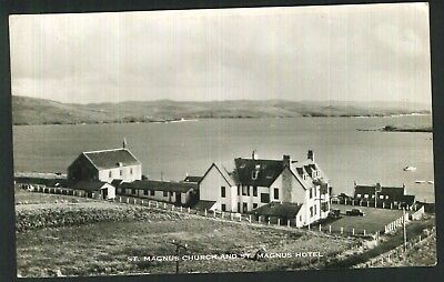 Postcard - St. Magnus Church & Hotel, Hillswick - Real Photo