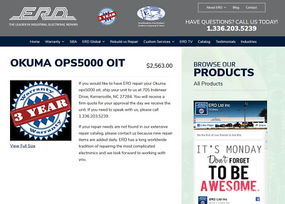 Okuma  ops5000 oit (Repair Evaluation Only!) With 3-Year Warranty