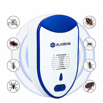 2 PCS^ Ultrasonic Mosquitoes Mice Insect Bed Bug Control Pest Repeller LED Light