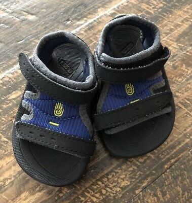 040dfa0cf93dfc Teva Psyclone Infant Baby Boys Blue Black Gray Yellow Sandals Size 2 - 3
