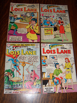 Superman's Girl Friend Lois Lane – Silver Age – 4 DC Comics. 1964-65