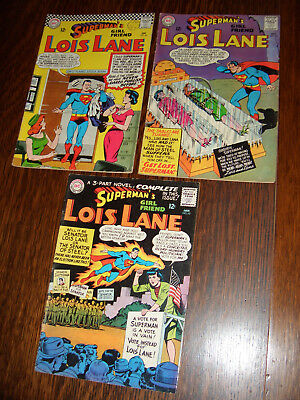 Superman's Girl Friend Lois Lane – Silver Age – 3 DC Comics. 1965-66