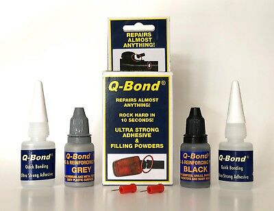 Q-Bond Ultra Strong Adhesive, Complete Kit Repairs Almost Anything In 10 Seconds