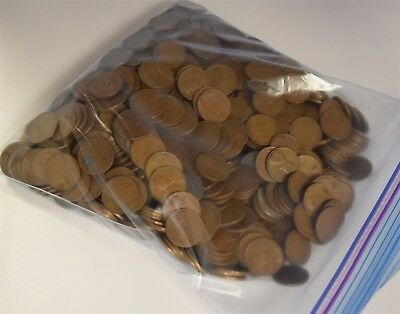 5LB *Includes 1909 V.D.B* Bag of Mixed Date Lincoln Wheat Cents