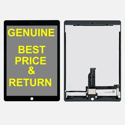 """Black LCD Touch Screen Display + Touch Flex And IC Connector For iPad Pro 12.9"""""""