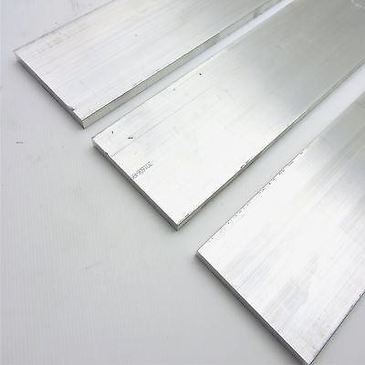 ".5"" x 6"" Aluminum Solid 6061 FLAT BAR 8"" Long new mill stock Pieces 3 sku K504"