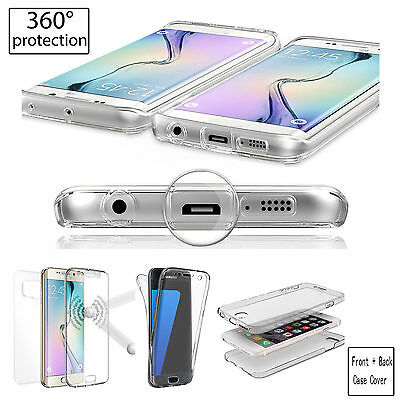 Front And Back Full TPU Gel Case Cover For Apple iPhone X XS MAX XR X 8 7 6 5 SE