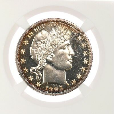 1905 Barber 50C NGC Certified PF65 Proof Struck US Mint Silver Half Dollar Coin