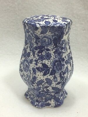 VINTAGE BLUE & WHITE CHINTZ FLORAL SALT Shaker Japan 24953