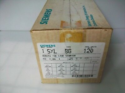 New Siemens 3 Phase Enclosed Motor Starter .  Sxlbg120.  Nema Size 0