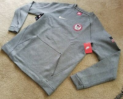 7842e3b25 NEW 2016 NIKE Team Usa Olympic Tech Crew Sweater Pyeongchang [807601-063]  Sz Med