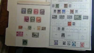 Burma Stamp collection on Minkus pages to '80 , stock, glassines, etc.
