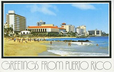 Greetings from puerto rico fort geronemo escambron vintage postcard greetings from puerto rico san juan multiview c1985 vintage postcard d28 m4hsunfo