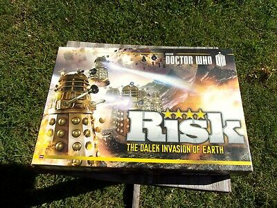 RISK Doctor Who The Dalek Armies Invasion of Earth Board Game BBC 2014 Hasbro