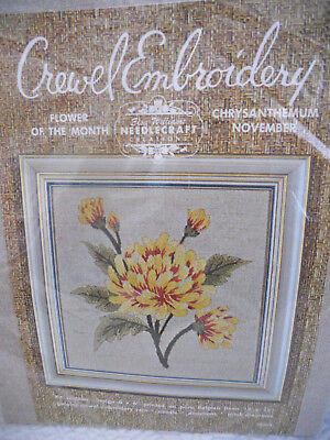 Elsa Williams Crewel Embroidery Kit Chinese Blue Bird Floral Tree
