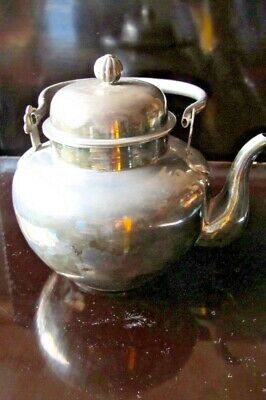 Antique Solid Sterling Silver teapot Japanese with matching cups