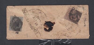 India 1863 Victoria Registered Cover Ooty India Internal Usage