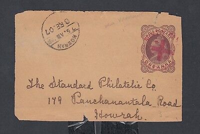 India 1907 Ps Wrapper Front Minto Fete Calcutta To Howrah