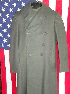 WWII United States Marine Corp Trench Coat 1944 Named  38R