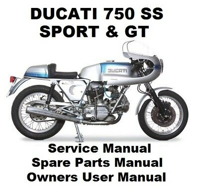 DUCATI 750 SS GT Owners Workshop Service Repair Parts Manual PDF on CD-R DESMO