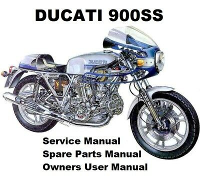 DUCATI 900 SS - Owners Workshop Service Repair Parts Manual PDF on CD-R DESMO