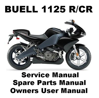 BUELL 1125 1125R 1125CR Owners Workshop Service Repair Parts Manual PDF on CD-R