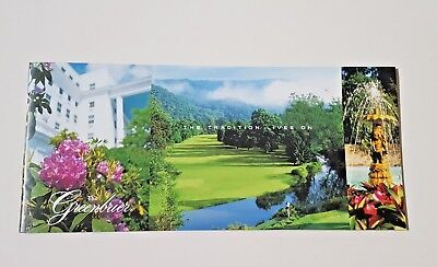 Tourist Booklet The Greenbrier White Sulphur Springs West Virginia Rlc