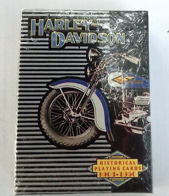 Sealed Harley Davidson Historical 1903 - 1950 Playing Cards New Deck USA 1997